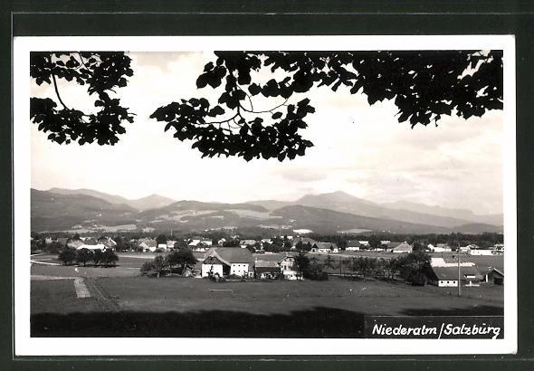 AK Niederalm, Panoramablick auf den Ort