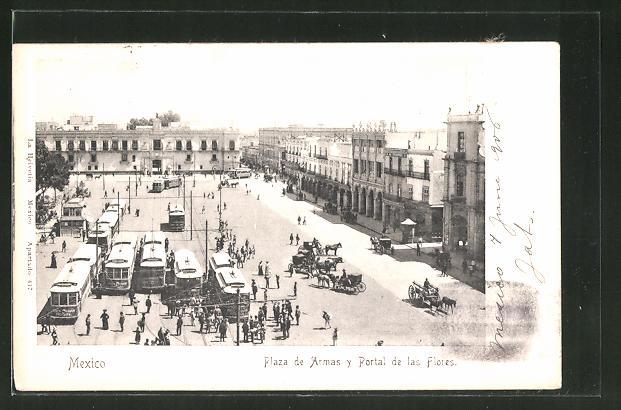 AK Mexico, Plaza de Armas y Portal de las Flores