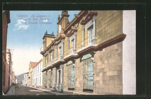 AK Tenerife, La Laguna - Calle de San Augustin y Palacio Episcopal
