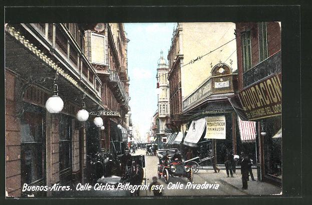 AK Buenos Aires, Calle Cárlos Pellegrini esq. Calle Rivadavia