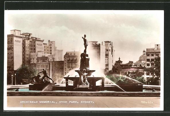 AK Sydney, Archibald Memorial, Hyde Park