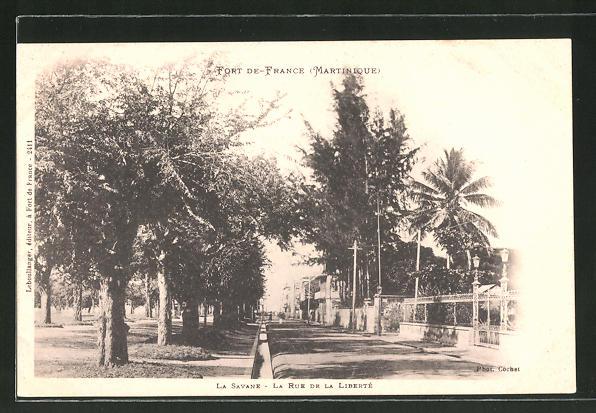 AK Fort-De-France, La Savane, La Rue de la Liberté