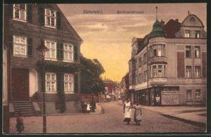 AK Gütersloh, Blick in die Berliner Strasse
