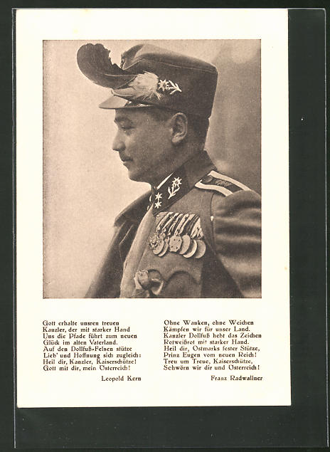 AK Bundeskanzler Dollfuss in Uniform