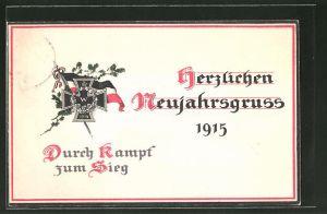 Präge-AK Neujahrsgruss 1915,