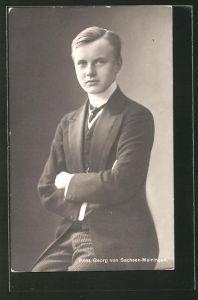 AK Prinz Georg von Sachsen-Meiningen im Anzug