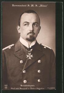 AK Korvettenkapitän Graf zu Dohna-Schlodien, Kommandant S.M.S.