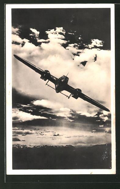 AK Unsere Luftwaffe, Kampfflugzeug Dornier Do 215 in der Luft