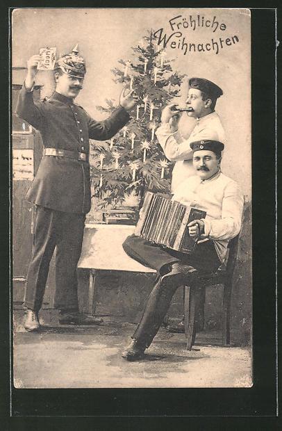AK Soldaten feiern Weihnachten