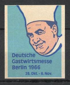 Reklamemarke Berlin, Deutsche Gastwirtsmesse 1966, Koch