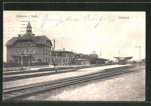 AK Güsten i. Anh., Bahnhof