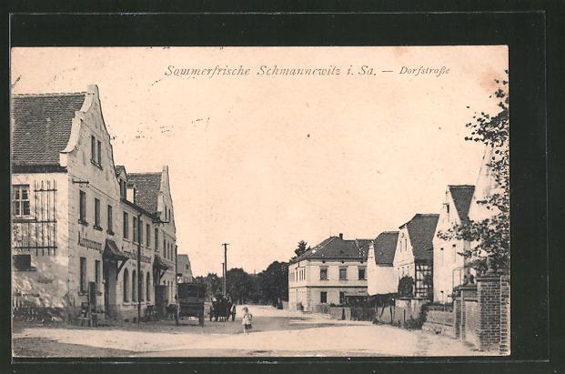 AK Schmannewitz i. Sa., Dorfstrasse