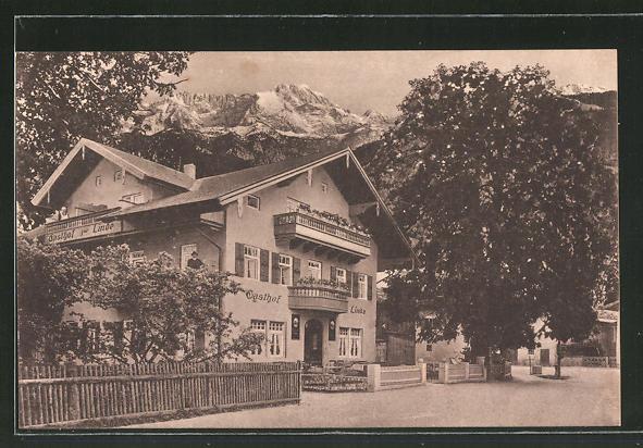 AK Partenkirchen, Gasthaus zur Linde