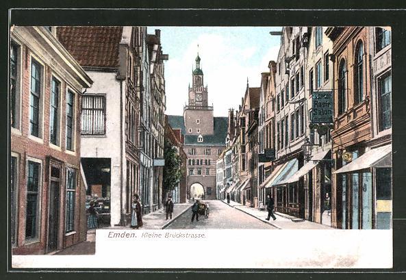 AK Emden, Blick in die Kleine Brückstrasse
