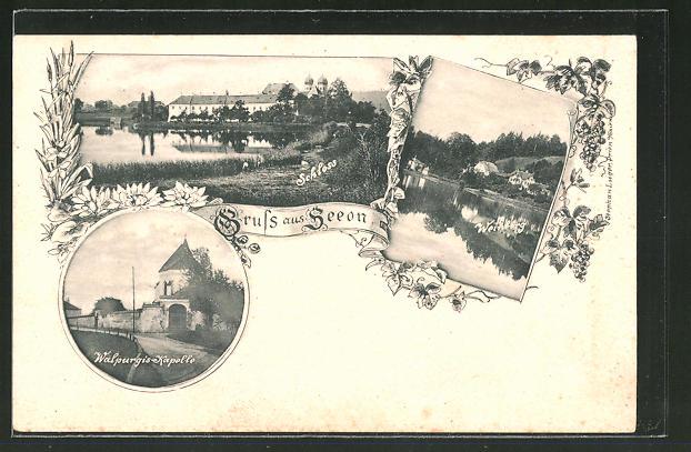 AK Seeon, Walpurgis-Kapelle, Weinberg, Schloss