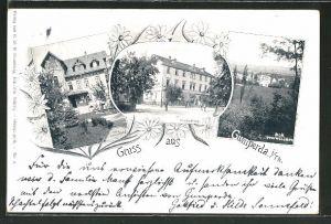 AK Gumperda i. Th., Gasthof Neues Haus, Villa Sonnefeld