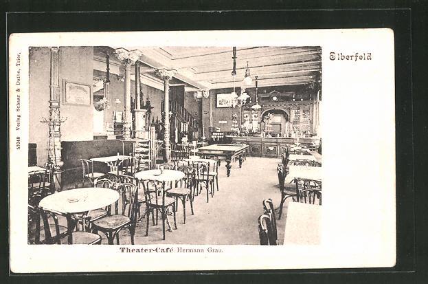 AK Elberfeld, Theater-Café Hermann Grau