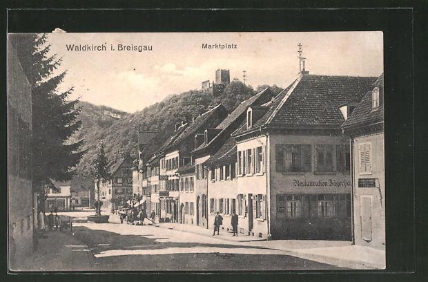 AK Waldkirch i. Breisgau, Partie am Marktplatz