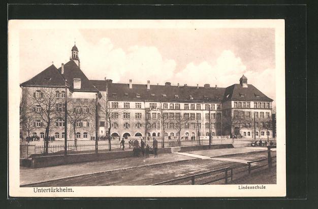 AK Untertürkheim, Blick zur Lindenschule