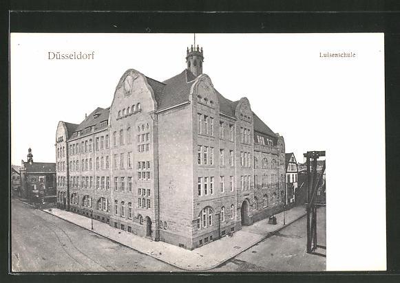 AK Düsseldorf, Blick zur Luisenschule