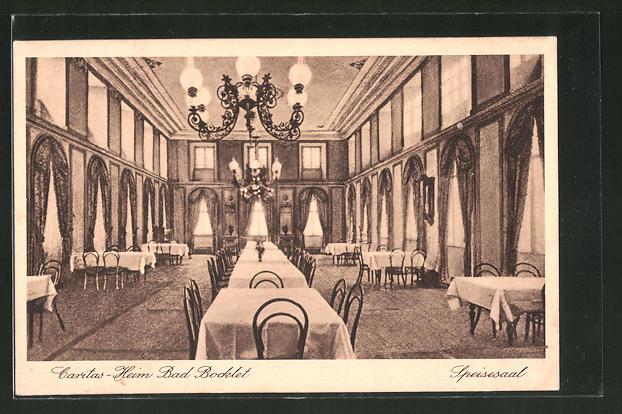 AK Bad Bocklet / Ufr., Caritas-Heim, Blick in den Speisesaal