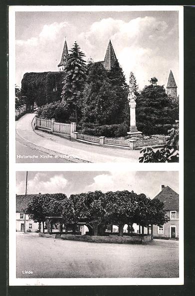 AK Effeltrich, Historische Kirche, Linde