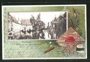 Präge-AK Nürnberg, Partie an der Museumsbrücke