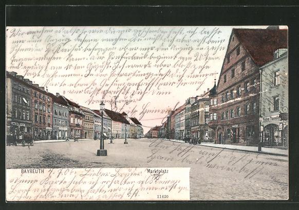 AK Bayreuth, Partie am Marktplatz