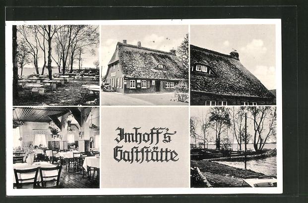 AK Bremen-Mittelsbüren, Gaststätte Zur Moorlosen Kirche, verschiedene Ansichten