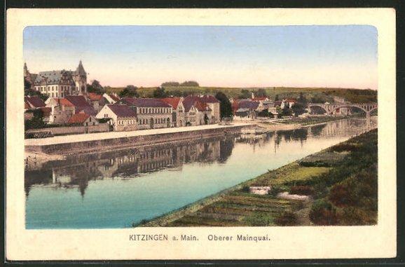 AK Kitzingen a. Main, Oberer Mainquai