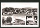 AK Huglfing / Obb., Johanneskapelle, Schule, Pfarrkirche, Panorama