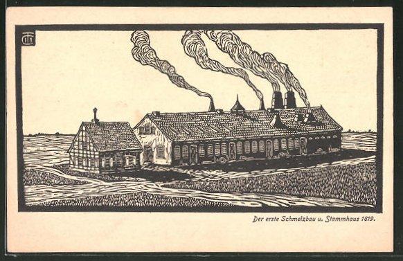 AK Essen, der erste Schmelzbau und Stammhaus 1819