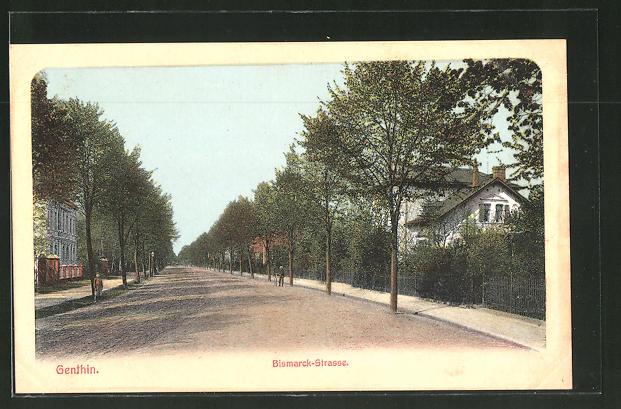 AK Genthin, Blick in die Bismarckstrasse