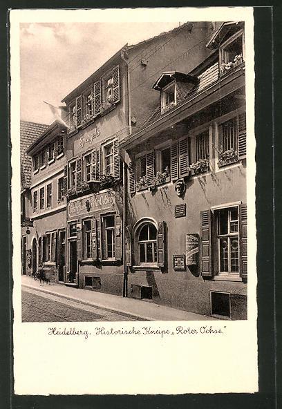 AK Heidelberg, historische Kneipe Gasthaus Roter Ochse
