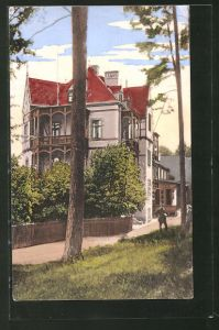 AK Bad Berka, Blick auf Schloss Rodberg