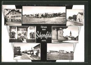 AK Schernfeld / Mfr., verschiedene Orts- und Strassenansichten