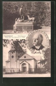 AK Friedrichsruh, Hirschgruppe, Fürst Otto von Bismarck
