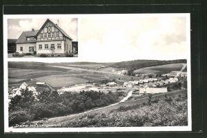 AK Lettgenbrunn, Gasthaus Znaimer Hof, Ortspanorama