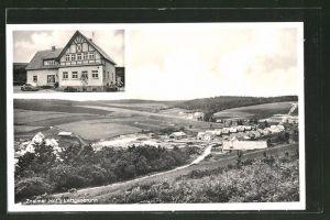 AK Lettgenbrunn, Gasthof Znaimer Hof, Ortspanorama