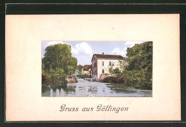 AK Göttingen, Blick zur Maschmühle