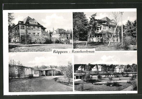 AK Köppern i. Taunus, versch. Ansichten vom Krankenhaus Nr ...