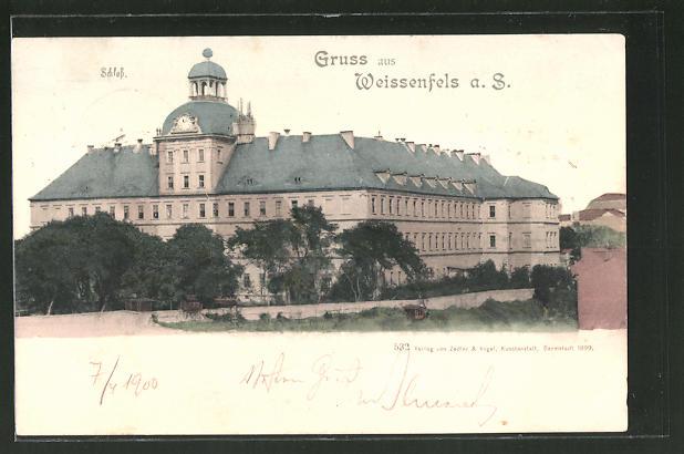 AK Weissenfels a. S., Sicht auf das Schloss