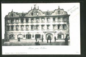 AK Würzburg, Partie am Haus zum Falken