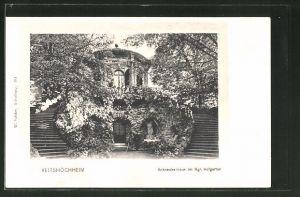 AK Veitshöchheim, Schneckenhaus im Kgl. Hofgarten