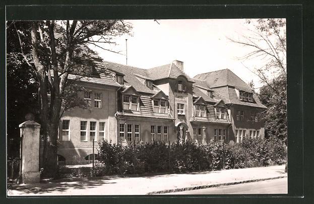 AK Bad Saarow, Strassenpartie am Caritas-Kinderheim