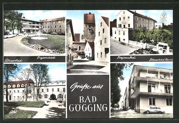 AK Bad Gögging, Römerbad, Trajansbad, Kirche