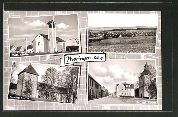 AK Moringen i. Solling, Martini-Kirche, Kath. Kirche, Ev. Kirche