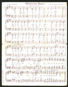 Klapp-AK Lied: Mühlviertler Hymne, Ameisberg- Warte