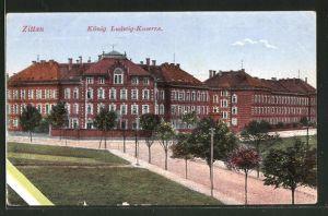 AK Zittau, Blick zur König Ludwig Kaserne