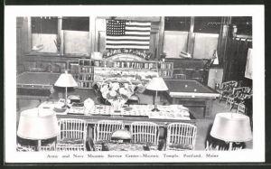 AK Portland, ME, Army and Navy Masonic Service Center, Masonic-Temple, Freimaurer
